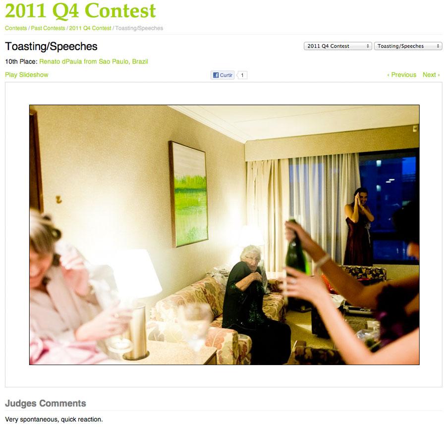 Foto de casamento premiada | WPJA 2011 Q4