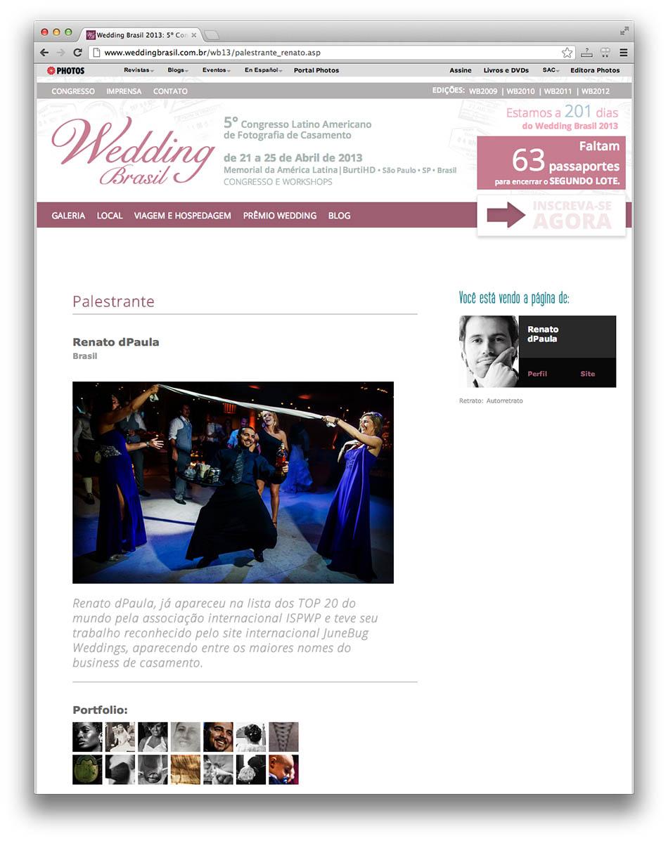Wedding Brasil 2013 - Renato dPaula Fotógrafo de Casamento