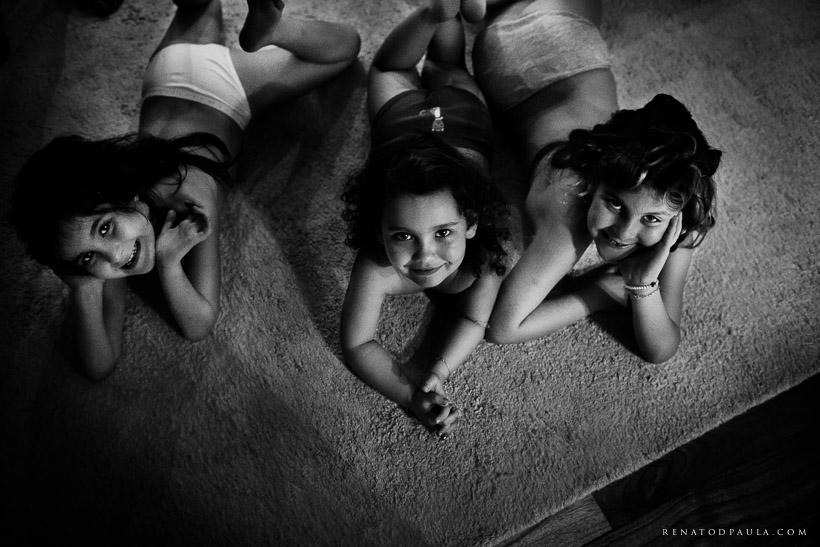 making of daminhas filhas dos noivos
