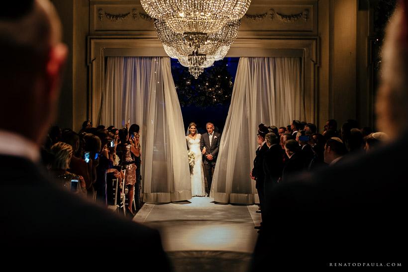 Casamento da Sharon Duek entrando com seu pai Tuffi Duek