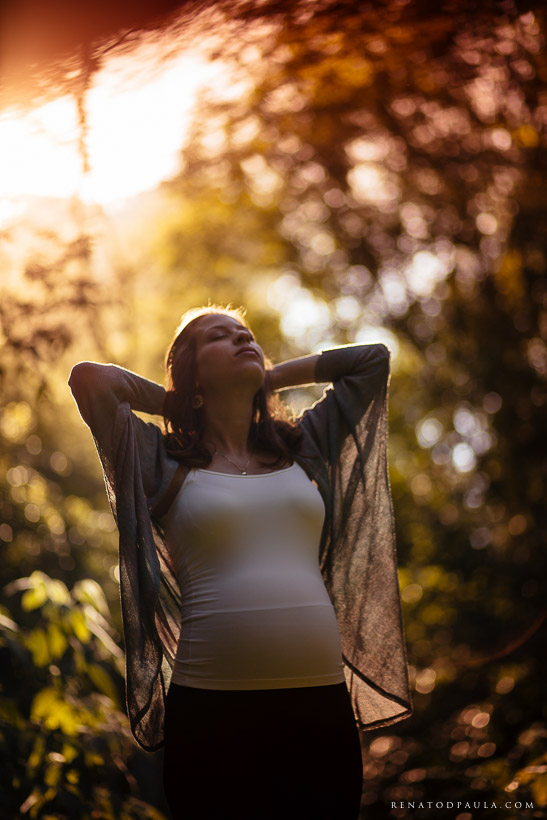 ensaio de grávida no parque