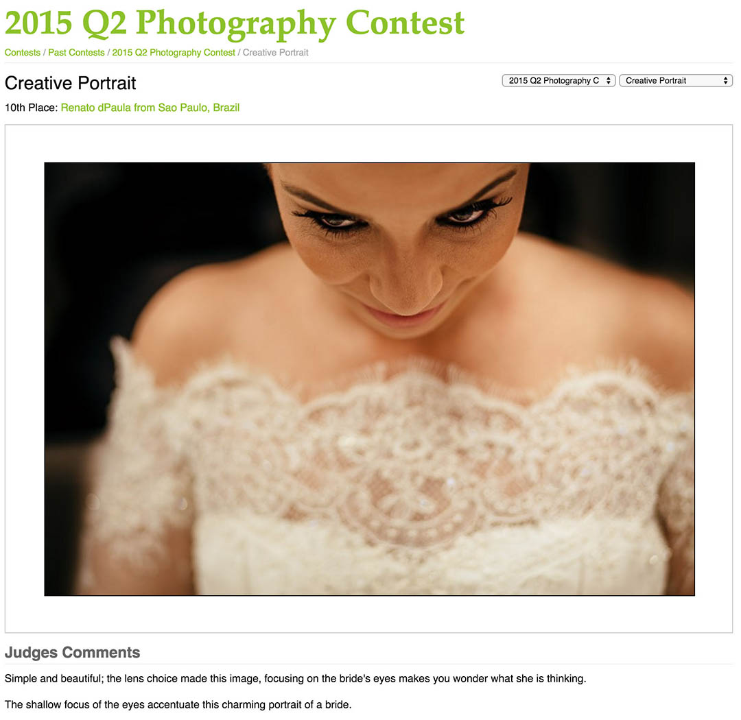 premiações na fotografia de casamento