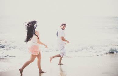 E-session na praia | Flávia e Alessandro